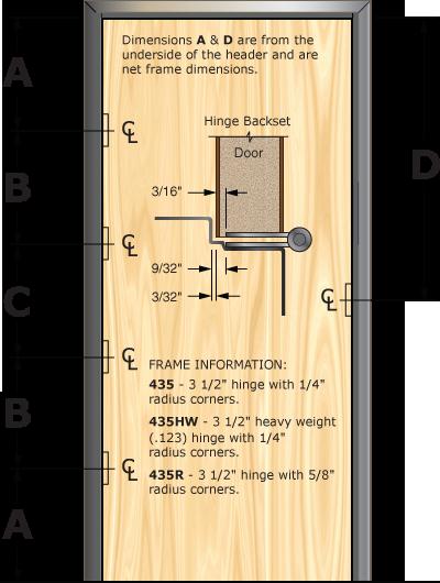 Prefit Door Specifications for 435