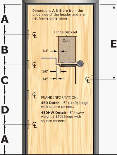 Prefit Door Specification for 450D