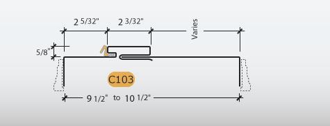 Adjustable Kerfed - Frame Profile (C103)