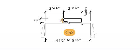 Adjustable Kerfed - Frame Profile (C53)
