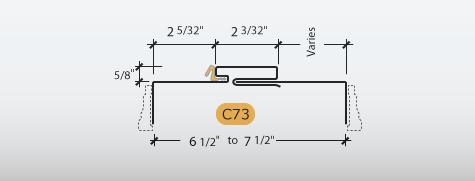 Adjustable Kerfed - Frame Profile (C73)