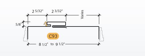 Adjustable Kerfed - Frame Profile (C93)