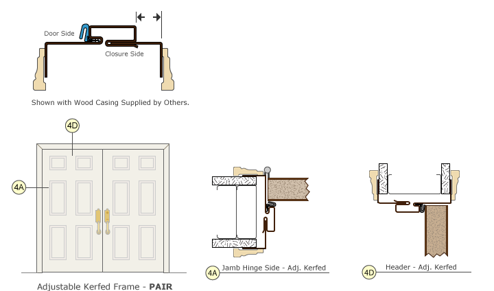 Timely Frames Adjustable Kerfed Door Frame Pair Drawing