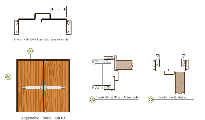 Adjustable Pair Door Frame Drawings
