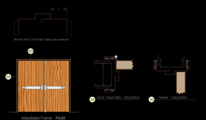Adjustable Pair Door Frame Drawings