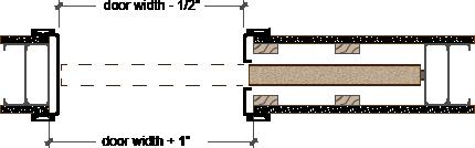 Pocket Door Trim Kit Plan Profile