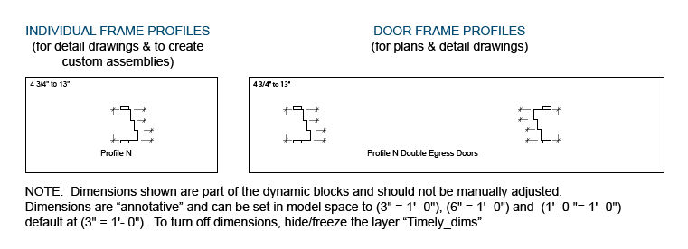 Double Egress Plan Profile Example CAD File