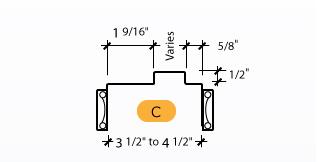 Classic C-Series Frame Profile (C)
