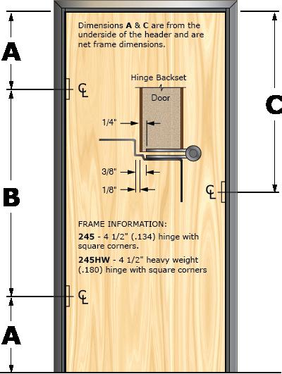 Prefit Door Illustration 245