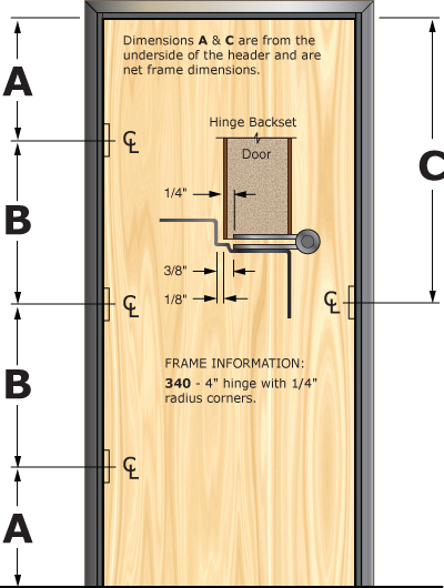 Prefit Door Illustration 340
