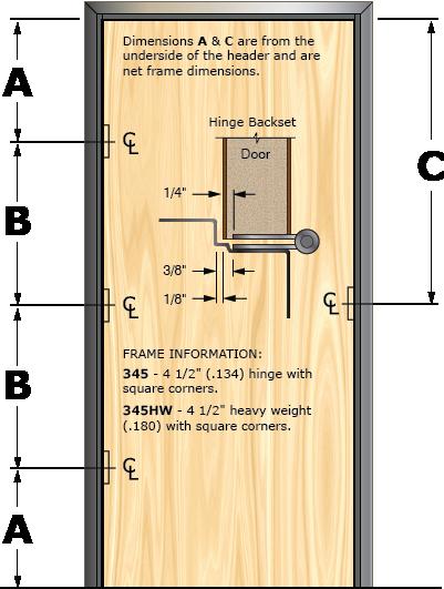 Prefit Door Illustration 345