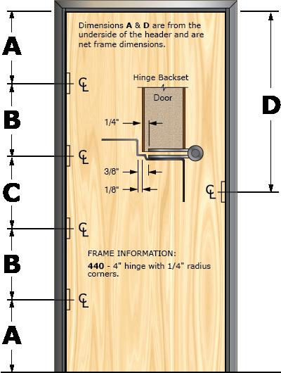 Prefit Door Illustration 440