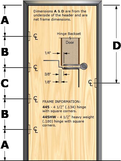 Prefit Door Illustration 445