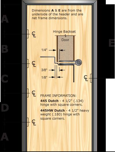 Prefit Door Illustration 445D